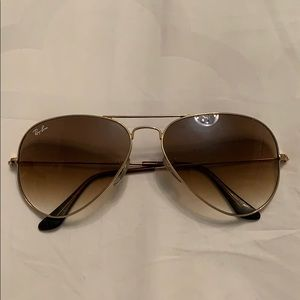 Ray ban aviator brown ombre sunglasses